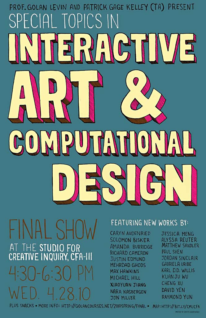 Poster for Class Exhibition. 4-28-2010