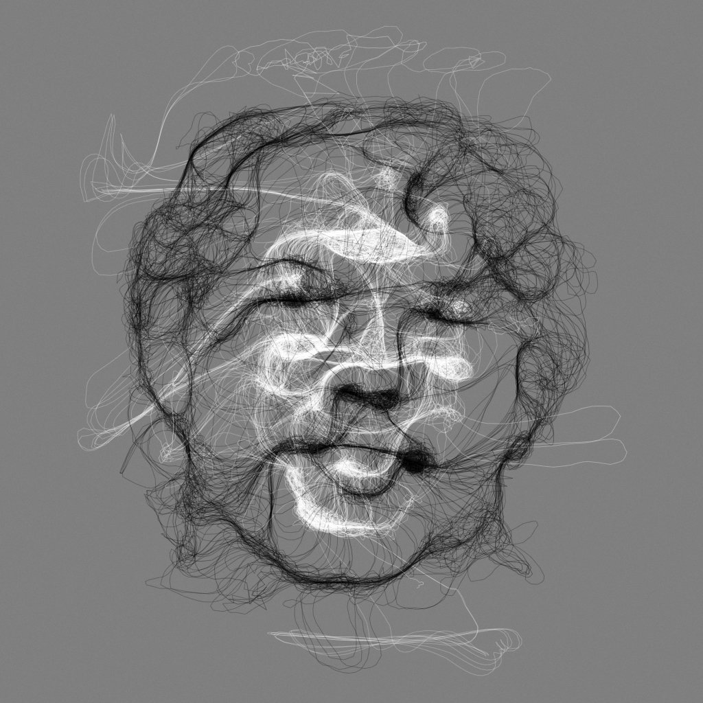 Floccular Portraits Interactive Art By Golan Levin And