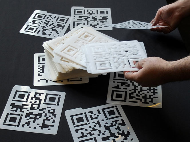 QR Codes for Digital Nomads - Interactive Art by Golan Levin