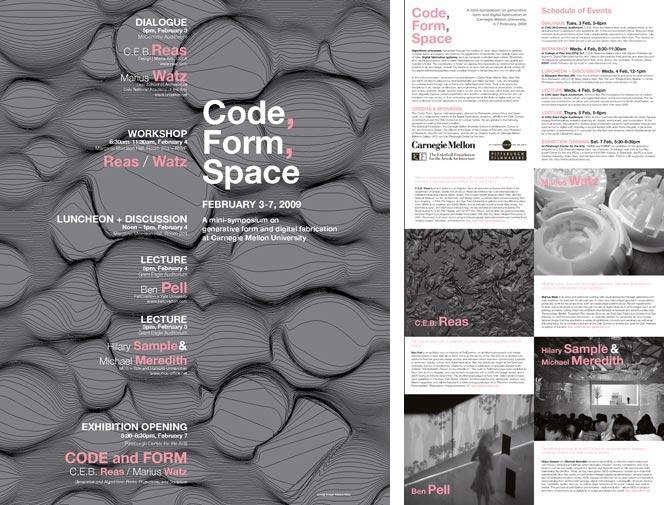 Code, Form, Space: Printable PDF Brochure